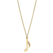 Pia Notes 9ct Gold Diamond Note Pendant