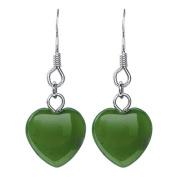 Jade Heart Earrings