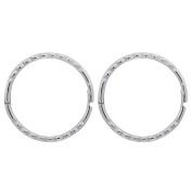 Sterling Silver Diamond Cut Sleepers Earrings 13mm