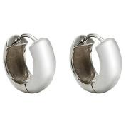 Sterling Silver Round Huggie Earrings
