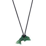 Jade Mini Dolphin Pendant 20x9x3.5mm