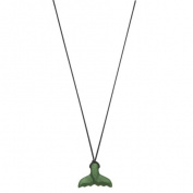 Jade Small Whale Tail Pendant