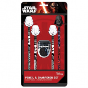 Star Wars Pencil & Sharpener Pack