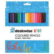 Deskwise Colour Pencils 48 Pack