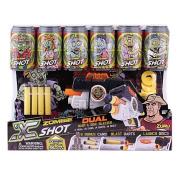Zuru X Shot Dual Zombie 6 Cans 4 Darts 6 Discs