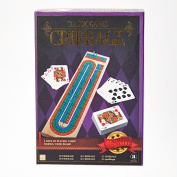 Classic Games Collection Wood Cribbage with Card