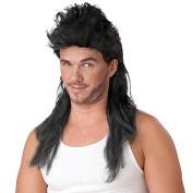 80s Mullet Wig Black or Blonde