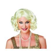 Adult Flapper Wig for Women Black or Blonde