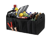 Fully Collapsible and Portable Trunk Organiser Great for Storing Tools, Maps, Cleaning Supplies, Bottles, Emergency Geear, Groceries and Much More for Cars SUV Truck