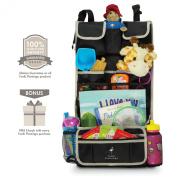 Premium Kids Car Back Seat Organiser | Simple Installation | Multiple Pockets | Detachable Compartment | 100% Infinity Guarantee