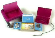 """ZoomKIT Fuchsia Travel Table and Activity System """"Buy One - Get One"""" Value Set"""