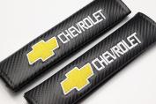Carbon Fibre Seat Belt Cover Shoulder Pad Cushion for Chevrolet - 1 pair
