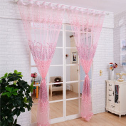 Voberry®floral Sheer Tulle Voile Door Curtain Window Drape Panel Scarf Valance (1 Pcs)