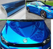 NuoYa001 Blue 30cm x 150cm Car Mirror Chrome Sheet Wrap Vinyl Decal Sticker Film
