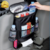 Deluxe Car Backseat Organiser Multi-Pocket Travel Storage Cooler Bag by SHEING® - Guaranteed to Keep Your Car Organised and Clean!