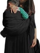 Vlokup Wrap Original 100% Cotton Adjustable Baby Carrier Infant Lightly Padded Ring Sling Pure Black