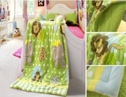 New Baby Size Super Soft Blanket Hight Quality 100% Polyester Animal Cartoon Bed Plush Throws the Zoo 100cm X 130cm