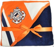U.S. Coast Guard Licenced Logo Soft Fleece Racing Stripe Baby Blanket