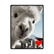 I Love Llama Soft Fleece Blankets and throws 150cm X 200cm (Large) Christmas gift