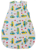 Baby Sleeping Bag with Surfer Pattern, Quilted Winter Model 2.5 TOG