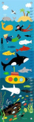 Oopsy Daisy in The Ocean by Lesley Grainger Growth Charts, 30cm by 110cm
