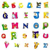 Hotportgift A-Z Alphabet & Animals Removable Wall/Glass Stickers Decals Nursery Decor Kids