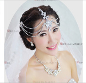 ELEOPTION(TM) New Wedding Evening Bridal Crystal Diamonds Flowers Handcrafted Headband Crown Hair Accessories Tiara Band for Girls Lady