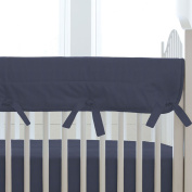 Carousel Designs Solid Navy Crib Rail Cover