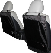 Kick Mats - Luxury Car Seat Back Protectors 2 Pack - Keep Your Car Seats 100% Clean From All The Stains And Scuffmarks Left By The Kids With These Auto-Protective Seat Covers - Designed For Most Vehicles - Protect Your Investment - Comes With a Lifetim ..