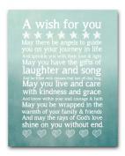 Christening/Baptism Gift, My Wish For You 8x10 Blue, New Baby Gift, Nursery Decor, Nursery Art Print, Baby Boy Gift, Childrens Wall Art, Baby Typography Print, Nursery Gift, Kids Wall Art Print, Blue