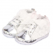 ELee Baby Girl Lace Up Rose Non Slip Toddler Crib Shoes First Walkers