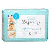 Well Beginnings Premium Nappies Jumbo, 2 42 ea