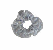 Obersee Kids Hair Tie Scrunchie, Silver Hologram, One Size