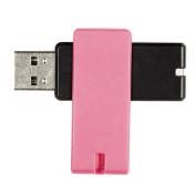 Tech.Inc 16GB USB Flash Drive Swivel Black/Pink