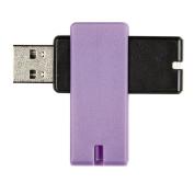 Tech.Inc 16GB USB Flash Drive Swivel Black/Purple