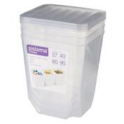 Sistema Organiser Tubs Large Clear 3 Pack
