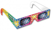 Rainbow Symphony 3D Fireworks Glasses - Original Laser Viewers, Package of 50