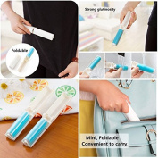 1 x Washable Lint Dust Hair Remover Cloth Sticky Roller Brush Cleaner Folding NEW