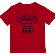 """""""Awesome at 33cm - Kids' Unisex Birthday T Shirt Gift"""