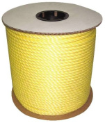 CORDAGE SOURCE Twisted Poly Rope, 1.3cm by 90m, Yellow