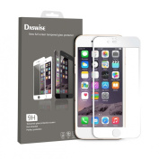 iPhone 6 Screen Protector, Daswise 2015 Full Screen Anti-scratch Tempered Glass Protectors with Curved Edge, Cover Edge-to-Edge, Protect Your 12cm Space Grey iPhone 6 Screens from Drops & Impacts, HD Clear, Bubble-free Shockproof