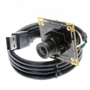 ELP 2.1mm Lens Wide Angle Webcam Low Illumination USB Camera Module for Day & night Linux Vision