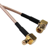 RF coaxial coax cable assembly SMB female right angle to male right angle 0.6m