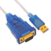 DTECH 1.2m USB 2.0 to RS232 DB9 Serial Adapter Cable - with FTDI Chipset Supports WIN 8 7 / Turns a USB port into a COM Port