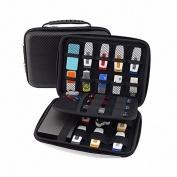 [USB Flash Drive Case / Hard Drive Case] - Lensfo Universial Portable Waterproof Shockproof Electronic Accessories Organiser Holder / USB Flash Drive Case Bag / Hard Drive Case Bag - Black