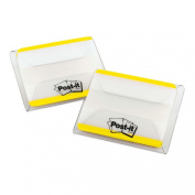 Post-it Tabs with On-the-Go Dispenser, 5.1cm Solid, Yellow, 25-Tabs/Dispenser, 2-Dispensers/Pack