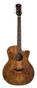 Luna GYPSPALT Gypsy Spalt Spruce Top Grand Auditorium Acoustic Guitar