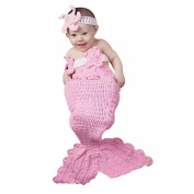 ZAMME Baby Girls' Crochet Mermaid Tail Photo Photography Props Set