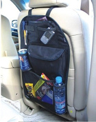 2 x Kabalo Universal Back Seat Car Organiser with Drinks / Umbrella Holder and 7 separate hook and loop sealed storage compartments. Height 55cm x Width 36cm