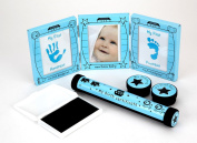 Hugs & More Baby Gift Set includes Photo/Hand Print Frame/Birth Certificate Holder/Tooth and Curl Keepsakes/Baby Hand Print Photo Frame